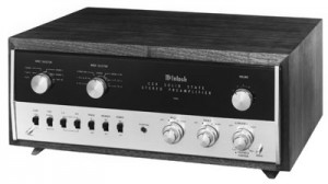 A vintage preamp